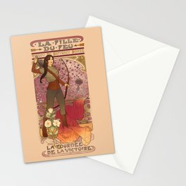 La fille du feu Stationery Cards