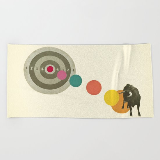 Bull's Eye : Taurus Beach Towel