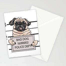 mugshot dog cartoon. Stationery Cards