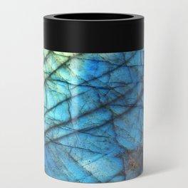 Royal Labradorite Crystal Agate Gemstone Print Can Cooler