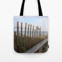 maine Tote Bags featuring Maine Beach by Thanks for the Memories