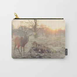 Deer at Sunset in the Woods Carry-All Pouch
