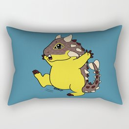Cute happy Ankylosaurus Rectangular Pillow