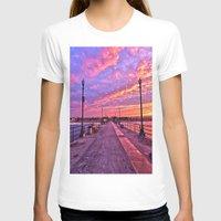 calendars T-shirts featuring Sunrise Huntington Beach Pier   11/12/13 by John Minar Fine Art Photography