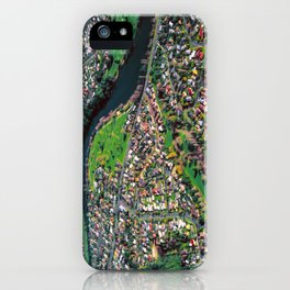 Hamilton City, New Zealand - Aerial view  iPhone Case