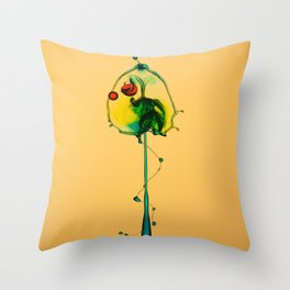 Colorful splash Throw Pillow
