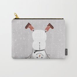 Snowman Yoga - Handstand Carry-All Pouch