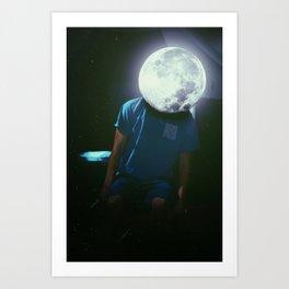 Moon Head Art Print