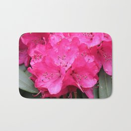 Rhododendron Pink Blooms Bath Mat