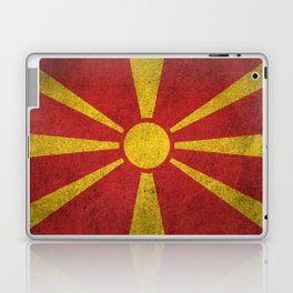 Old and Worn Distressed Vintage Flag of Macedonia Laptop & iPad Skin