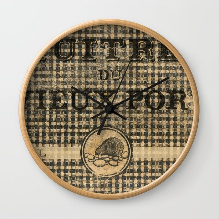 Huîtres du Vieux Port (Old Port Oysters) Wall Clock