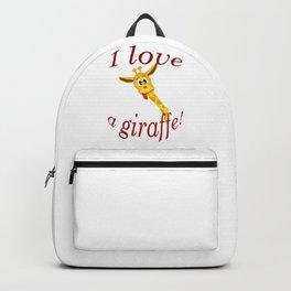 I Love A Giraffe Backpack