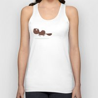 beaver Tank Tops featuring Beaver by ValD