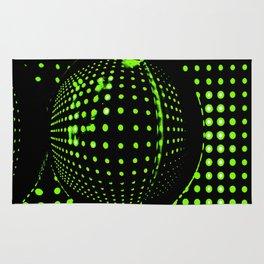 Green spots in the dark Rug