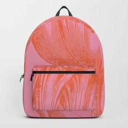 Dutch Tulip Illustration in Pink and Orange Backpack