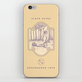 Endangered Love - Sloth Sutra iPhone Skin