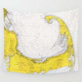 Vintage Map of Cape Cod (1971) Wall Tapestry