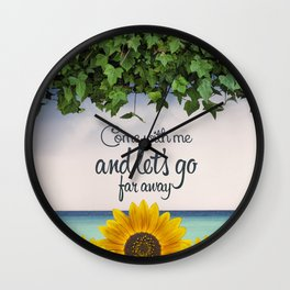 Far away (sunflower) Wall Clock