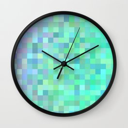 Square mosaic tiles Wall Clock