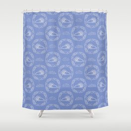 Hand drawn vector cloud and sun illustration Shower Curtain