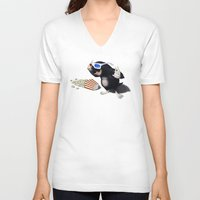 3d V-neck T-shirts featuring 3D by rob art | illustration