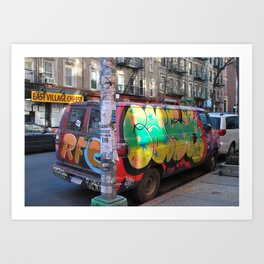 East Village Graffiti Van Art Print