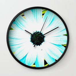 Making art with flower - green tones Wall Clock