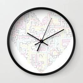 Love Maze Wall Clock