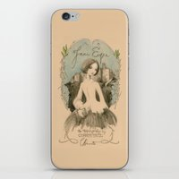 jane eyre iPhone & iPod Skins featuring Jane Eyre by Charlotte Bronte by BA Jennings