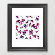 Ava Floral Pink Framed Art Print