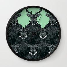 Chorus of Deer Wall Clock