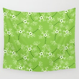 Green Neurons Wall Tapestry