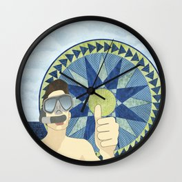 Snorkeling with Mariner's Compass Wall Clock