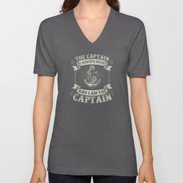Captain Skipper Sailing Sailor Yacht Unisex V-Neck