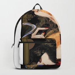 Beautiful Japanese Geisha Fine Art Reconstructed  Backpack
