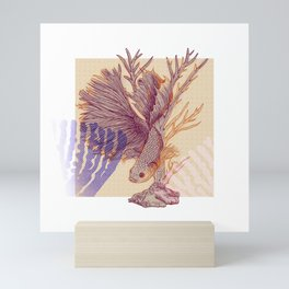 Relaxed Betta splendens Mini Art Print