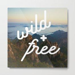 wild + free (mountains) Metal Print