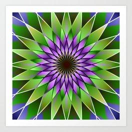 Lavender lotus mandala Art Print