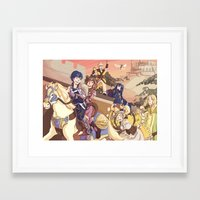 fire emblem awakening Framed Art Prints featuring Fire Emblem- Parade by Frauleinandry