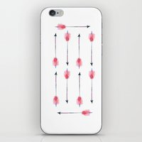 craftberrybush iPhone & iPod Skins featuring Boho arrow watercolor  by craftberrybush