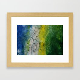 Tropicana Abstract Painting Textured Framed Art Print