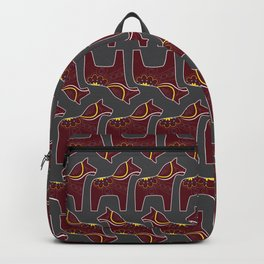 gray Dala horse pattern Backpack