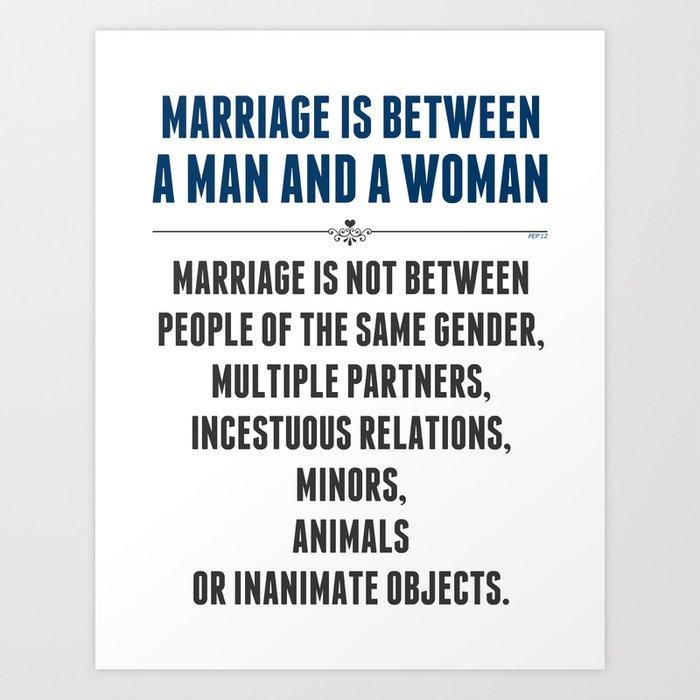 Marriage In America Art Print