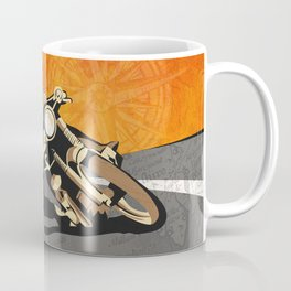 vintage Isle of Man TT motor race poster Coffee Mug