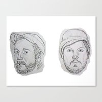 modest mouse Canvas Prints featuring Modest Beards by Haley Erin