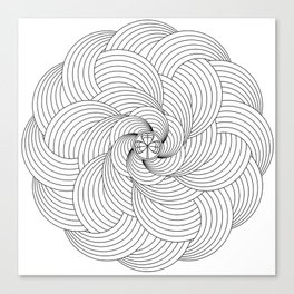 Mandala circle Canvas Print