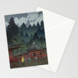 Hasui Kawase, Rain In Nikko, Futatsudo - Vintage Japanese Woodblock Print Art Stationery Cards