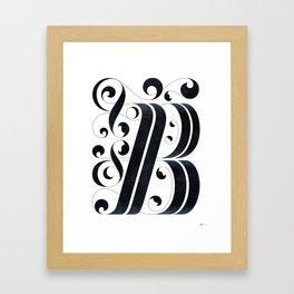 "Drop cap ""B"" Framed Art Print"