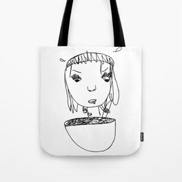Eating Cereal Tote Bag