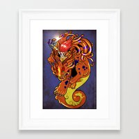 foo fighters Framed Art Prints featuring Foo Punch! by Electra Vasiliadi